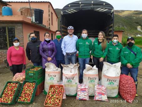 Trueques por la vida - Mosquera - Intercambio de frutas y hortalizas por abono orgánico Terrazán