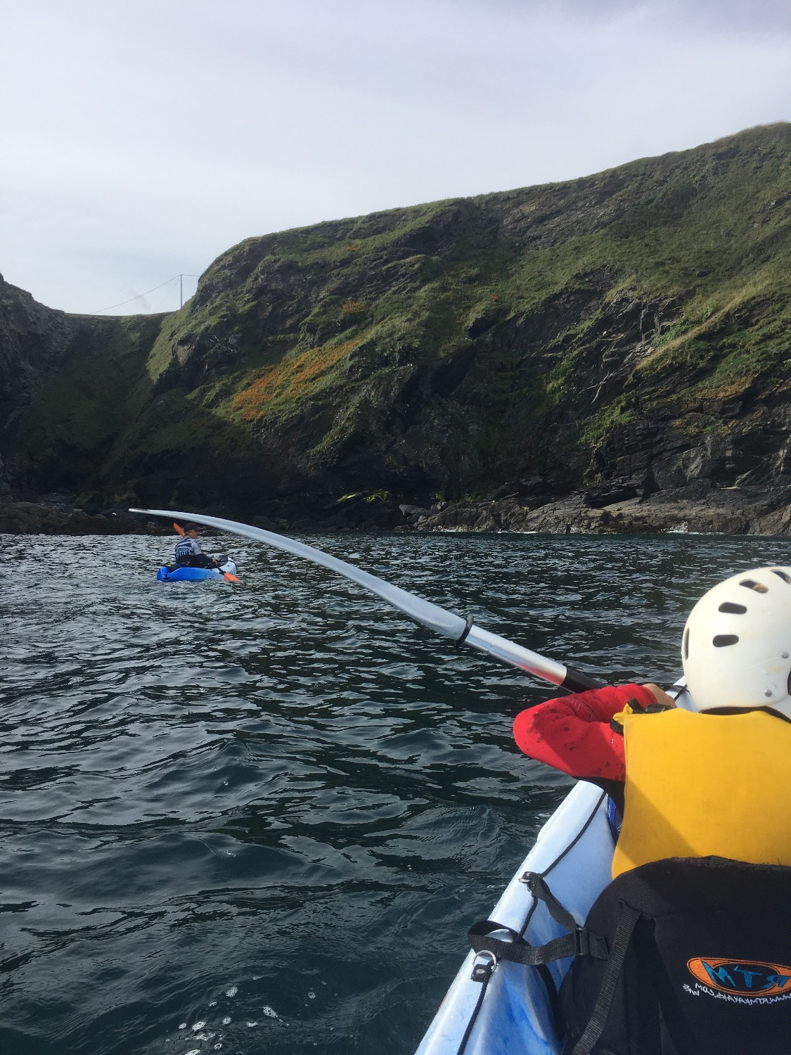 Kayaking with Cornish Rock Tors