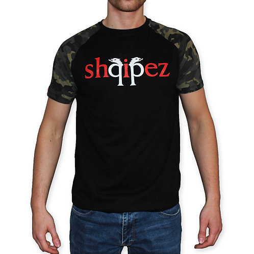 SHQIPEZ Crewneck T-shirt   Black/Camo