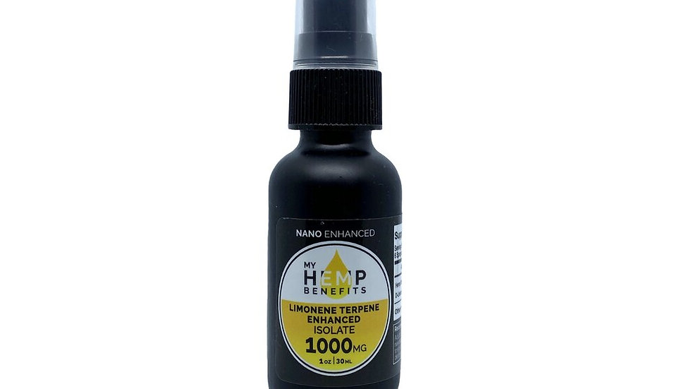 CBD Supplement Oral Spray Tincture - Isolate 1000mg