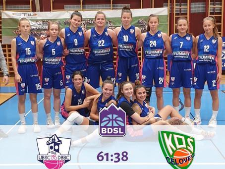 BDSL: Sieg gegen KOS Celovec (61:38)