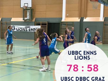BD2L: Niederlage gegen UBBC Enns Lions (78:58)