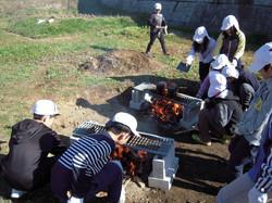 1129新米収穫飯盒炊爨(5年)