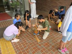 6年生 考古館見学火起し体験(0718)