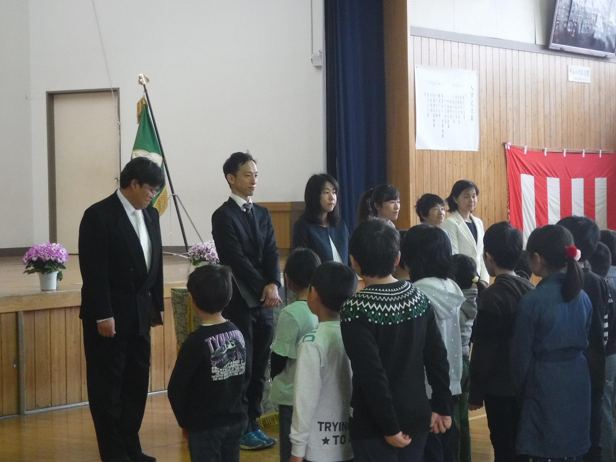 4・5始業式新任職員紹介