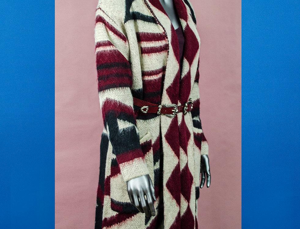 Cappotto stampa azteca
