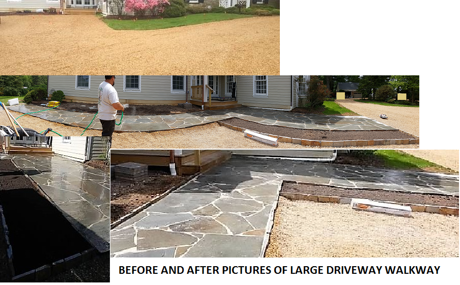Before and After Flagstone Walkway
