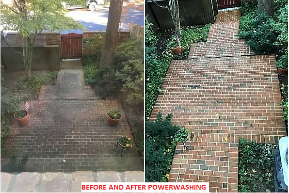 Before and after powerwash