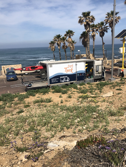 kayak truck parking