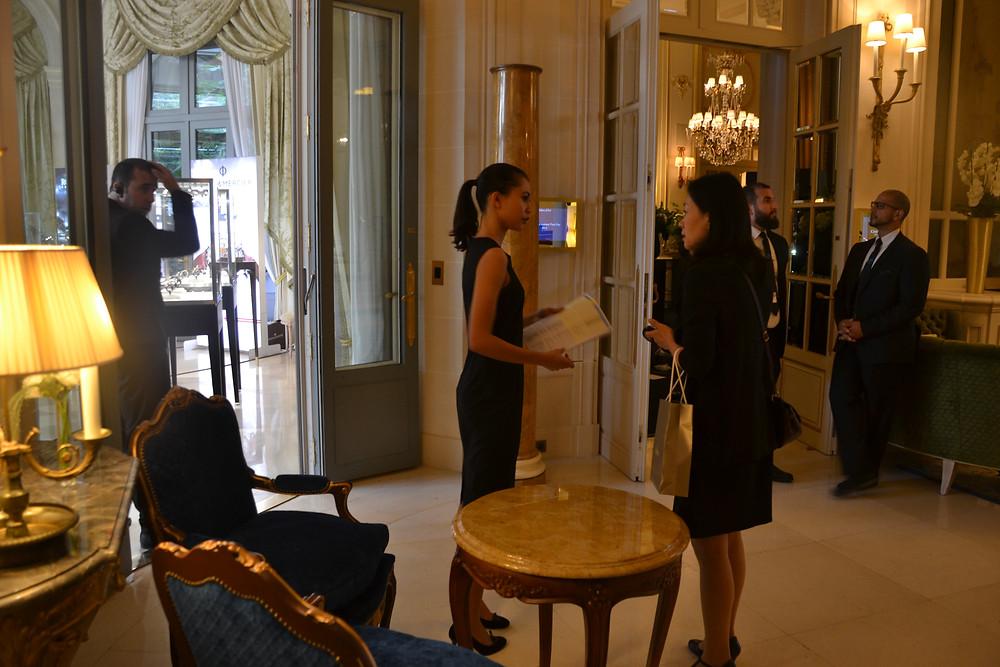 Zoom l'Agence accueil au Ritz les journée presse IWC