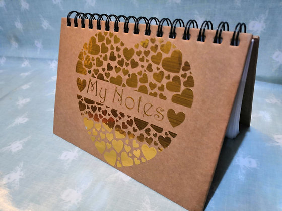 'My Notes' Heart Notebook