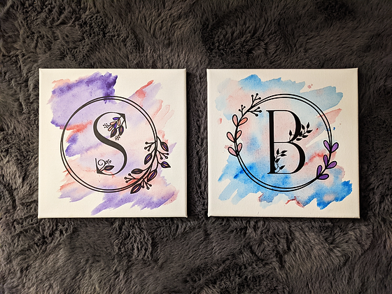Handpainted Initial Canvas | Multiple Sizes | Personalised Canvas