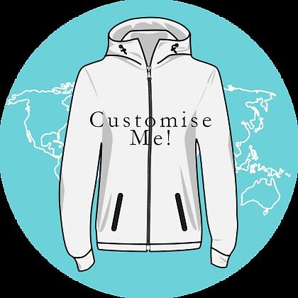Custom Hoodies - Adults Zipped
