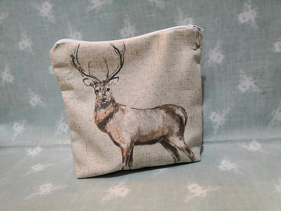 Soft Deer zipped pouch