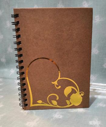 Gold Heart Notebook