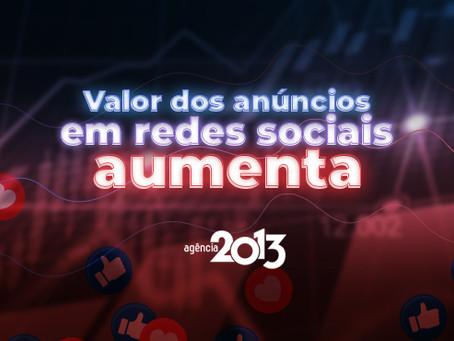 Valor dos anúncios em redes sociais aumenta