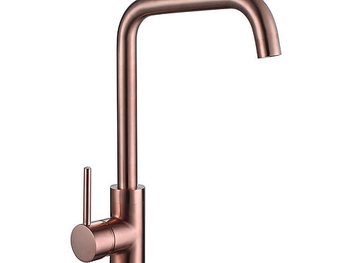Reginox Rion Single Lever Mono Kitchen Sink Mixer In Brushed Copper Finish
