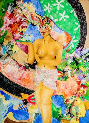 Bora Bora Artist Garrick Yrondi Oil Pain