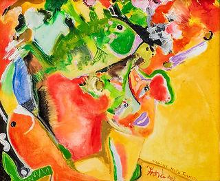 Art Bora Bora Artist Garrick Yrondi Oil Pain