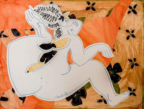 Bora Bora Artist Collages Yrondi Oil Pain