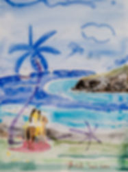 Bora Bora Artist Watercolor Yrondi Oil Pain