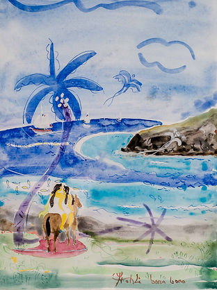 Bora Bora Artist Watercolor Yrondi Oil Pain