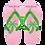 Preppy Pickle Flops pink