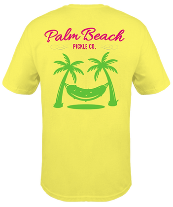 Pickle hammock T-shirt back