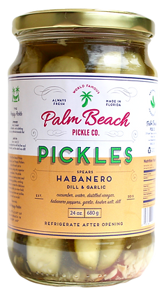 Habanero Dill & Garlic Pickles