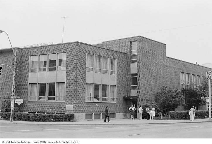 Exterior of the Bloor Y in 1972