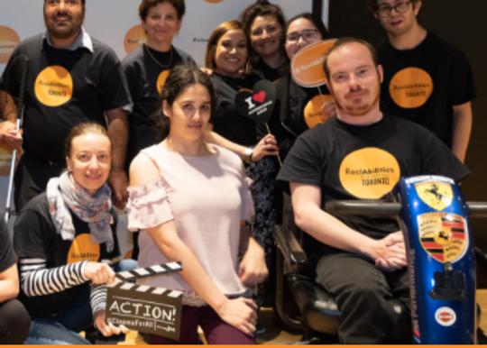volunteers at the reel abilities film festival
