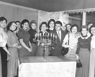 Young Adult Leaguers at Chanukah