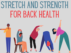 stretch and strength for back health - w