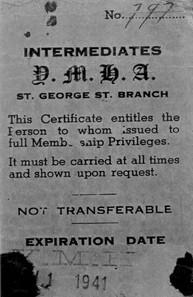 YMHA Membership Card