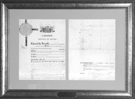 Letters-patent for the Young Mens' Hebrew Athletic Club Ltd, 1901.