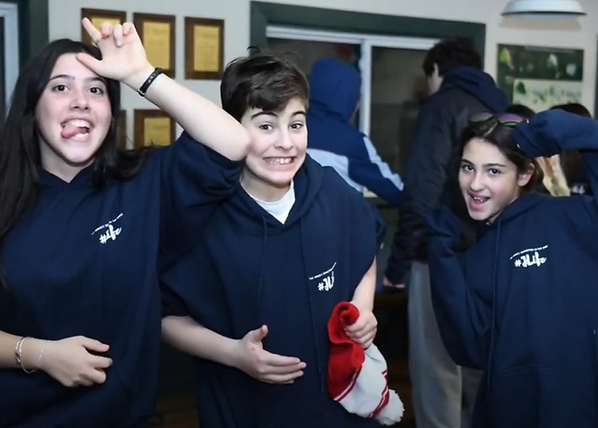 three smiling teenagers from the JLife program