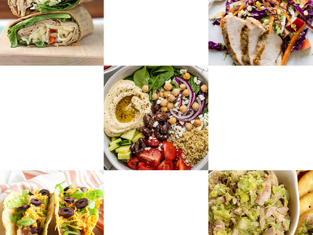 Healthy lunch recipes with shopping lists!