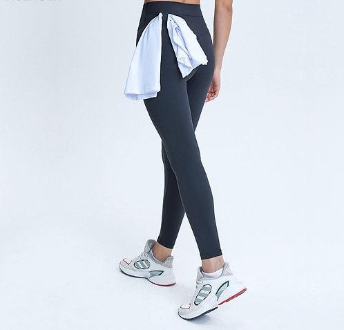 純色攜巾運動褲Pure color sweatpants with towel