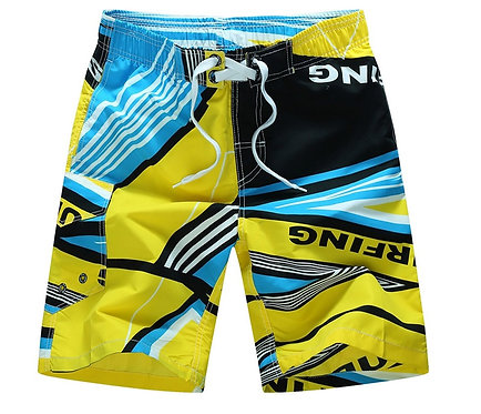 幾何拼接海灘褲Geometric panel board shorts