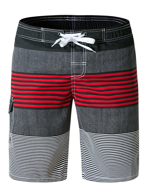 灰底條紋海灘褲Grey striped board shorts