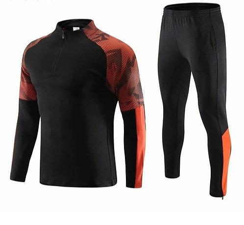 條紋印花拼接運動套裝Striped print stitching sports suit