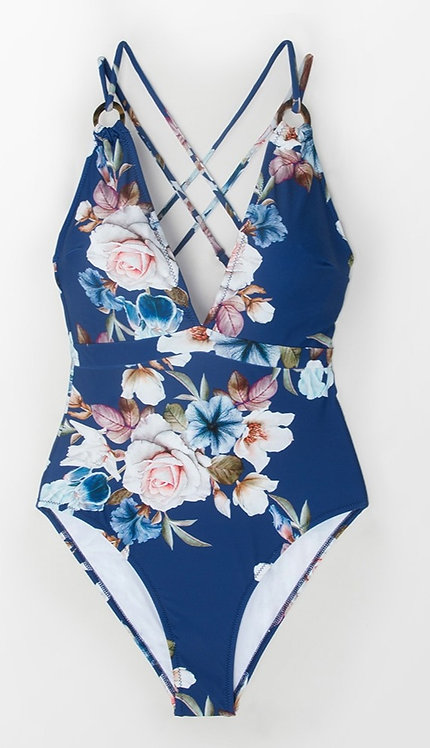 花朵花朵 連身泳衣 flower one-piece swimsuit