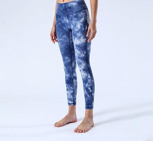 水墨風紮染運動上衣/緊身褲 Ink tie-dyed sports top/leggings