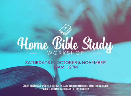 Home Bible Study Workshop