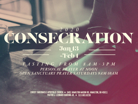 2020 Consecration