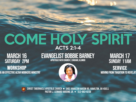Come Holy Spirit Weekend