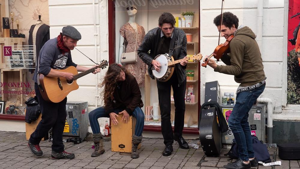Musiciens de rue à Galway