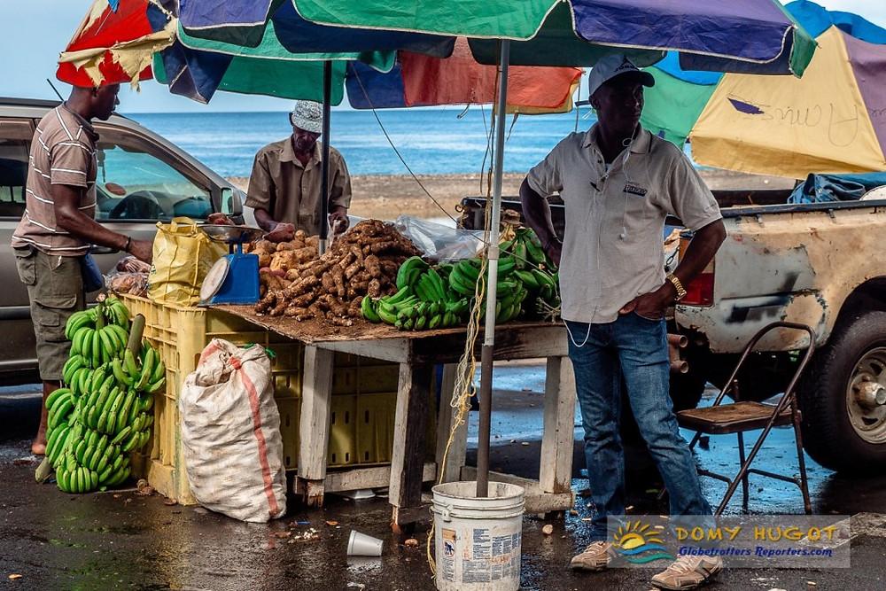marché de Roseau ile de la Dominique