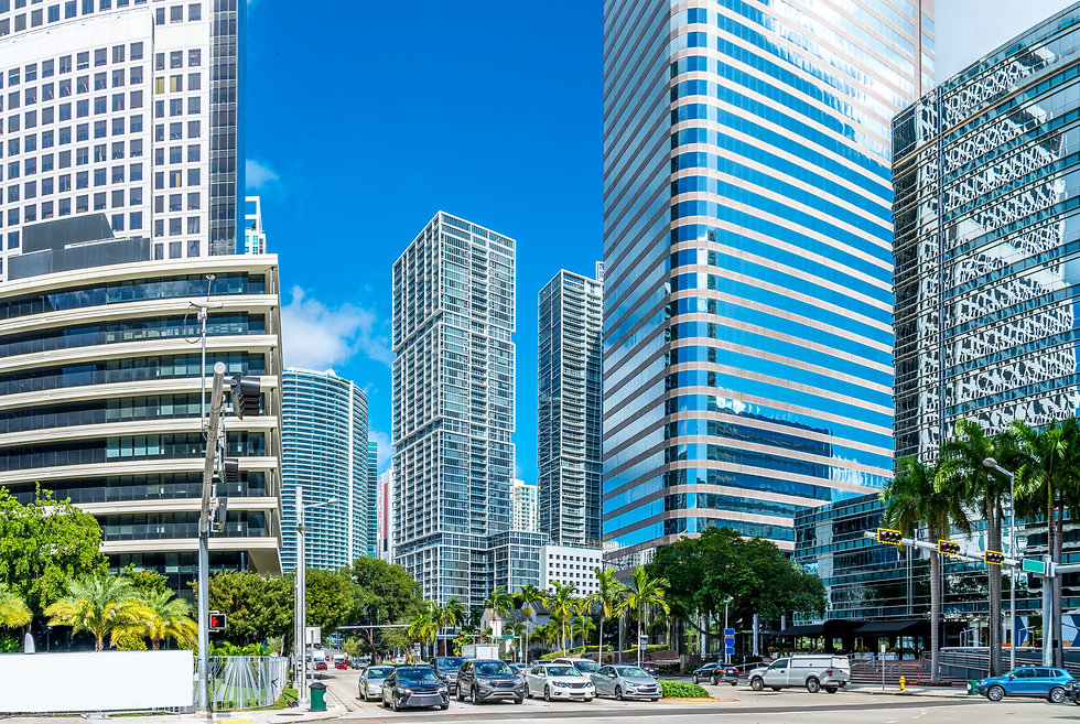 Highrise buildings in Brickell, Miami..j