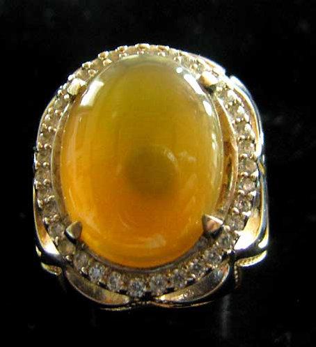 Lemon Yellow Agate Ring-11